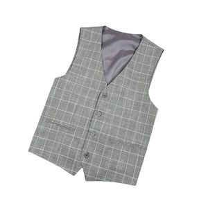 Bocaccio Three-Pirece Suit, Gray and white